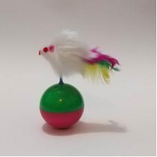 اسباب بازی توپ تعادل موش دار مناسب برای گربه