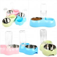 ظرف آب اتوماتیک و غذای استیل ساز بزرگ سگ یا گربه