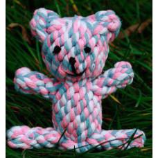 اسباب بازی عروسک طرح خرس طناب کنفی دست دوز مخصوص سگ و گربه