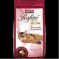 غذای خشک رافینه آنیموندا کراس حاوی گوشت گاو، بره و خرگوش مخصوص گربه بالغ 1.5 کیلوگرم