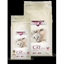 غذای خشک گربه بوناسیبو با طعم مرغ، ماهی و برنج
