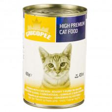 کنسرو گربه چیکوپی طعم مرغ 400 گرمی