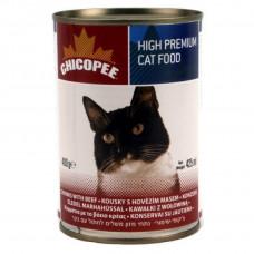 کنسرو گربه چیکوپی طعم گوشت گوساله 400 گرمی