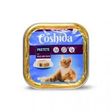 غذای کاسه ای ووم گربه کوشیدا گوشت گوساله و جوجه 100 گرمی