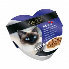 کنسرو گربه قلبی شکل ایدل کاس پتهه ای حاوی گوشت گوساله و خرگوش 85 گرم