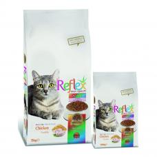 غذای خشک گربه بالغ رفلکس با طعم مرغ - دانه های رنگی
