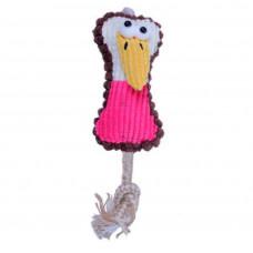 اسباب بازی عروسک بوق دار طرح پرنده برای سگ و گربه