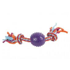 اسباب بازی طنابی دندانی لاتکس طرح توپ خاردار مخصوص سگ
