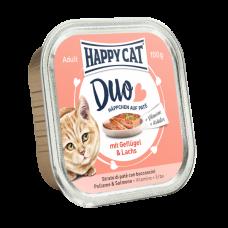 ووم گربه هپی کت با طعم گوشت مرغ و ماهی 100 گرمی