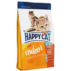 غذای خشک گربه هپی کت بالغ ایندور حاوی ماهی سالمون آتلانتیک