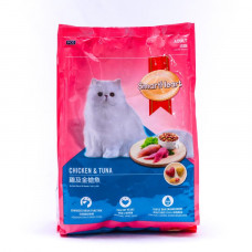 غذای خشک گربه اسمارت هارت با طعم مرغ و ماهی تن مخصوص گربه بالغ