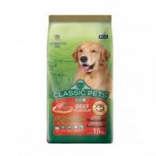 غذای خشک سگ بالغ کلاسیک پت با طعم گوشت گاو