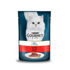 پوچ گورمه پورینا گربه طعم گوشت گوساله 85 گرم