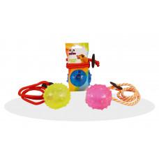 توپ بازی آموزشی بند دار سگ و گربه