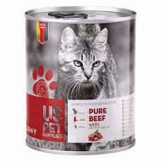 کنسرو گربه یو اس پت حاوی گوشت خالص گوساله 400 گرم