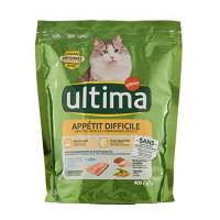 غذای خشک گربه عقیم شده بد اشتها Ultima با طعم ماهی