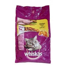 غذای خشک همراه تشویقی مغزدار گربه ویسکاس با طعم مرغ