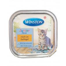 غذای کاسه ای ووم بچه گربه وینستون مرغ 100 گرمی