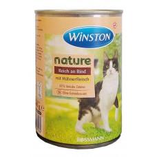 کنسرو گربه وینستون حاوی گوشت و مرغ 400 گرمی